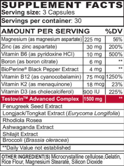 Nitric Oxide & T Booster - Performance Stack (2 Month Supply)
