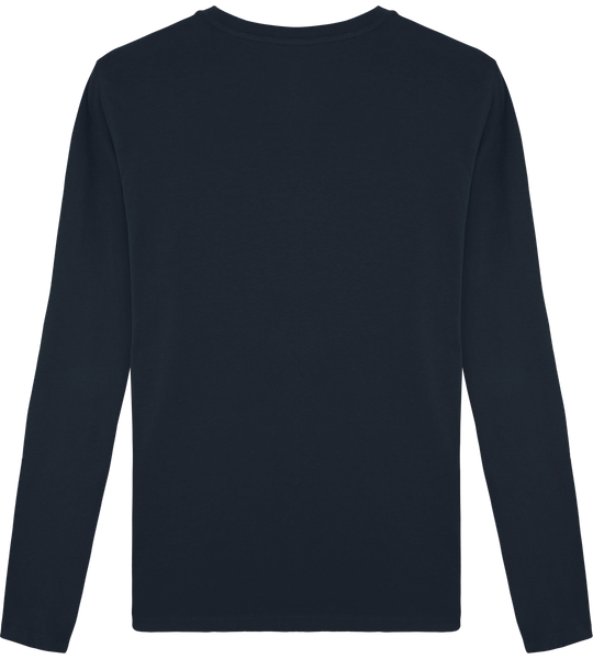 Tee Shirt Homme Col Rond Manches longues brodé