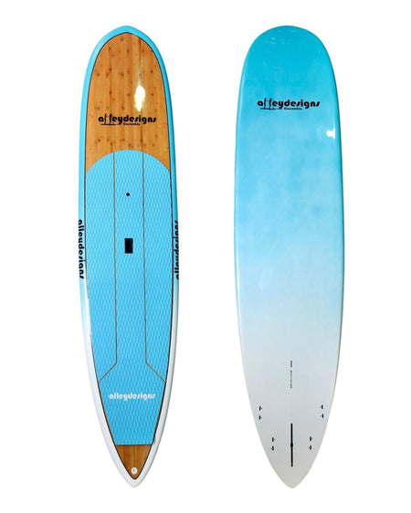 "10' x 27"" Bamboo & Teal Pin Tail Alleydesigns SURF SUP 8KG - Alleydesigns  Pty Ltd                                             ABN: 44165571264"