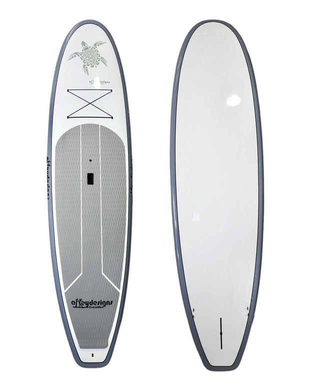 "10'6"" x 32"" Thermo Mould Silver & White ,Turtle  SUP"