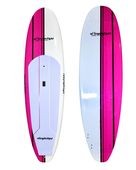 "10' x 32"" Retro Pink & White Classic SUP - Alleydesigns  Pty Ltd                                             ABN: 44165571264"