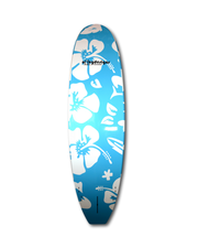 "10' x 32"" Deluxe Blue Hibiscus classic SUP blue deck pad - Alleydesigns SUP's SURF & SNOW GEAR"