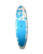 "10' x 32"" Deluxe Blue Hibiscus classic SUP blue deck pad - Alleydesigns Paddle Boards"