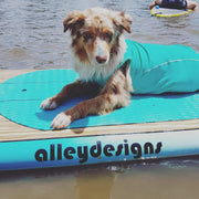 "10'6""x 32"" Timber Deck Teal Rails Hybrid Alleydesigns SUP - Alleydesigns SUP's SURF & SNOW GEAR"
