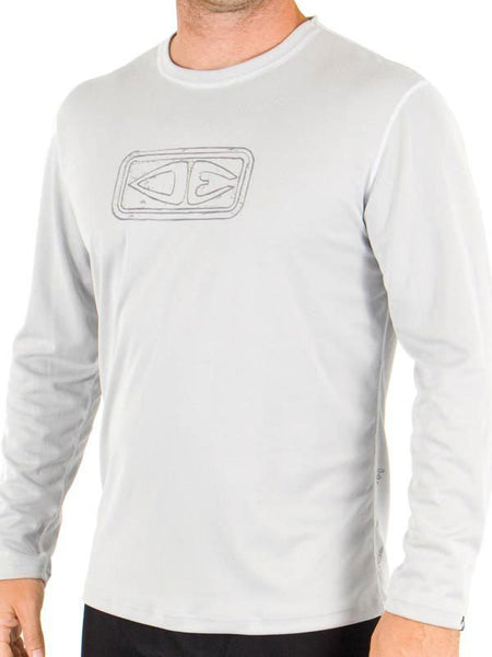 SUP Clothing Mens Paddle Shirt Grey Long Sleeve By Ocean & Earth FREE SHIPPING