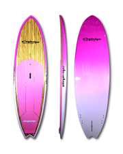 "9'6"" x 31""Timber deck with Pink Fade Performance SUP - Alleydesigns Paddle Boards"