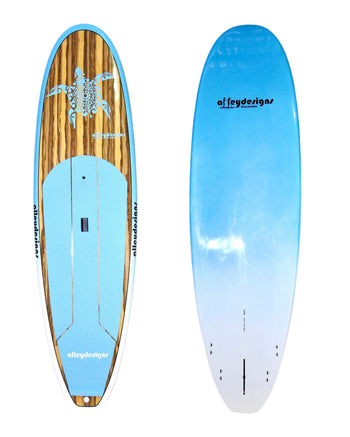 "9'6"" x 31"" Timber Teal Turtle Classic Alleydesigns SUP @8,9KG"