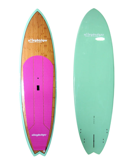 "10' x 32"" Bamboo ,Mint & Pink  Performance Alleydesigns SUP SUP 8KG"
