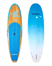"10'6"" x 32"" Bamboo & Teal Turtle Classic Alleydesigns SUP 10KG"