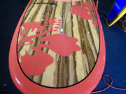 "10' x 32"" Timber Deck Red Hibiscus Classic Alleydesigns SUP UNDER 9KG"
