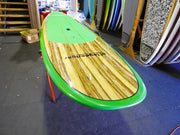 "10' x 32"" Timber Aussie Green To Yellow Fade Classic Alleydesigns SUP under 9kg"