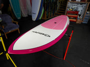 "9'6"" x 31"" Pink & White Performance SUP Alleydesigns 8KG"