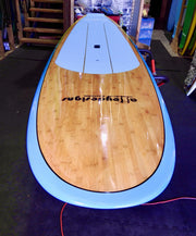 "10'6"" x 32"" Bamboo Beach Blue To Yellow Fade Classic Alleydesigns SUP 10KG"