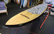"11' x 32"" Bamboo Black Rails Alleydesigns SUP under 11kg"