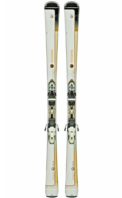 SKIS ROSSIGNOL FAMOUS 8 WHITE SKIS & XPRESS LOOK BINDINGS