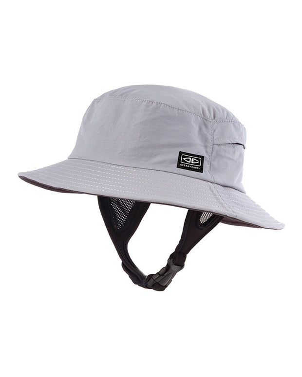 HAT Mens Bingin Soft Peak Surf Hat - GREY Ocean & Earth