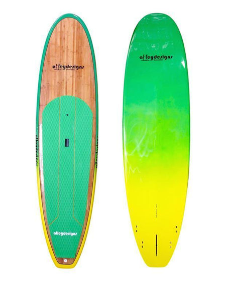 "10' x 32"" Bamboo Aussie Green To Yellow Classic Alleydesigns SUP 9kg"