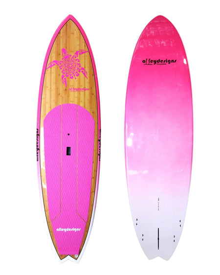 "9'6"" X 31""Bamboo Pink Turtle Performance Alleydesigns SUP 7.5KG"