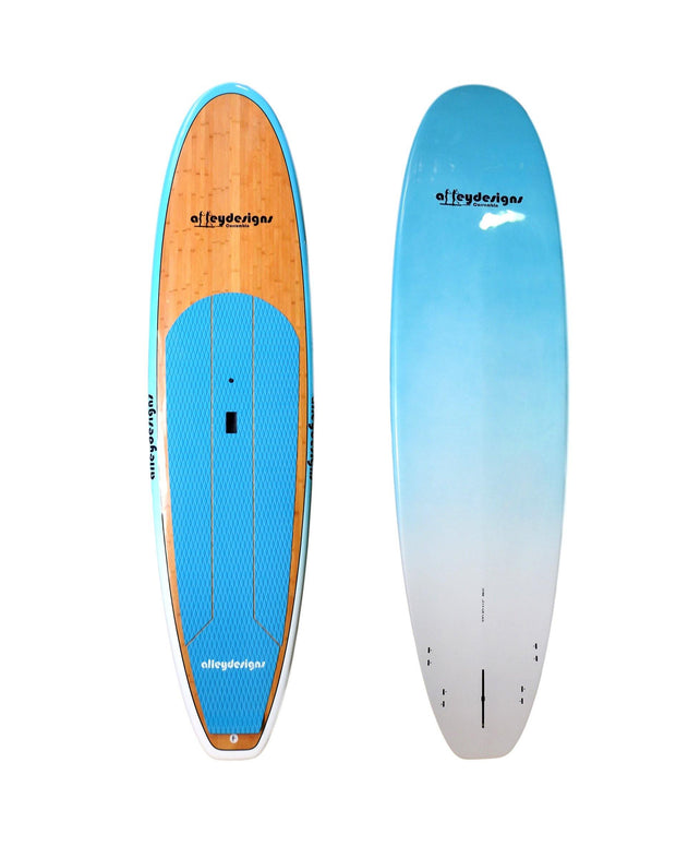 "10'6"" x 32"" Bamboo & Teal Classic Alleydesigns SUP 10KG"