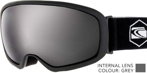 SNOW GOGGLES CARVE FIRST TRACKS BLACK/ GREY SILVER IRIDIUM LENS