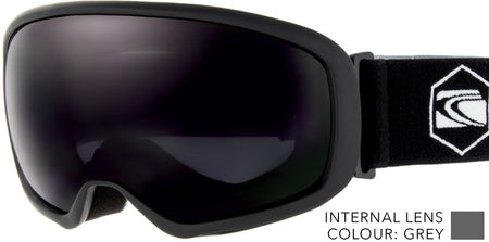 SNOW GOGGLES CARVE FIRST TRACKS BLACK / GREY