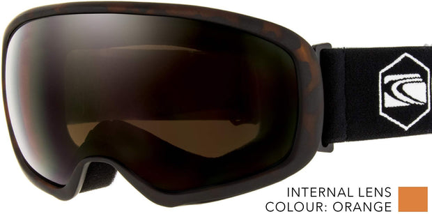 SNOW GOGGLES CARVE FIRST TRACKS TORTE/ BRONZE LENS