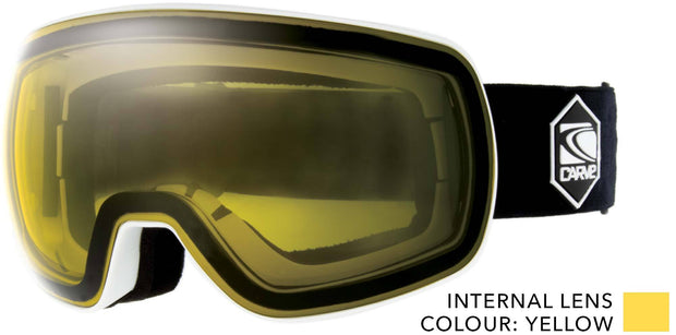 SNOW GOGGLES CARVE SCOPE Low light PHOTOCHROMIC Lens WHITE/YELLOW
