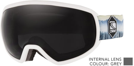 SNOW GOGGLES CARVE SHOOTS WHITE/ GREY LENS