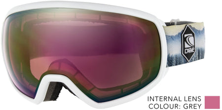 SNOW GOGGLES CARVE SHOOTS WHITE / ROSE PINK IRIDIUM LENS