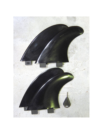Alleydesigns Fin set 4 quad fins for surfing - Alleydesigns SUP's SURF & SNOW GEAR