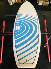 "SURFBOARD 6'3"" X 18""13/16 BLUE AND WHITE DESIGN"