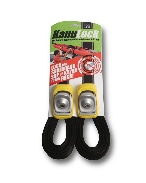 Kanulock 4m lockable tie down straps yellow