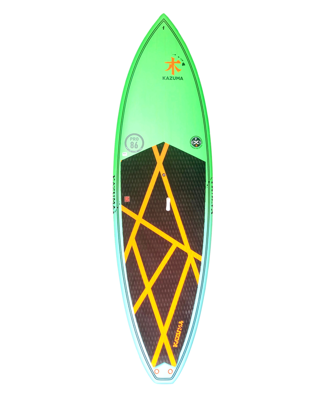 "8'6"" or 8' KAZUMA CARBON GREEN PERFORMANCE SURF SUP"