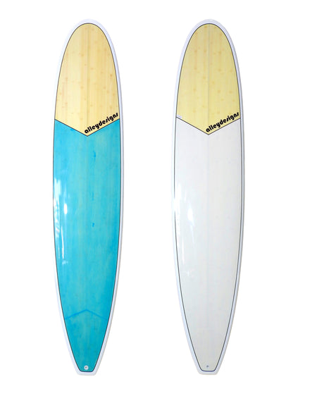 "Surfboard Bamboo Mini Mal Square Tail - 7'6"", 8' ,8'6"", 9', 9'6"", 11'6"" Alleydesigns"