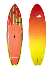 "10' x 32"" Timber Deck Red Hibiscus Performance Alleydesigns SUP UNDER 9KG"