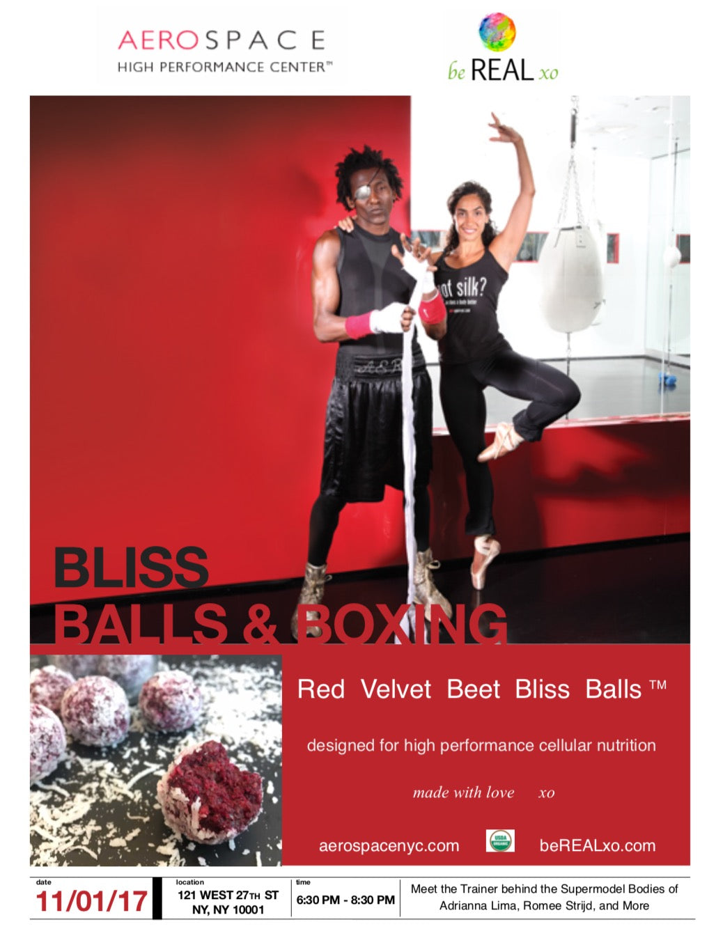 Join us November 1st for a Blissful VIP Event hosted by Aerospace Fitness Center!!