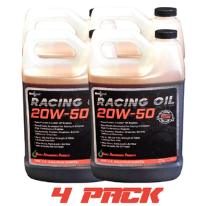 CleanBoost® 20W50™ Racing Oil 1 Gal 4 Pack