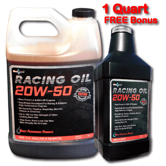 CleanBoost® 20W50™ Racing Oil 1 Gal. with 1 Quart Free Bonus