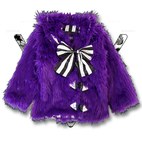 METAL PURPLE MONSTER COAT