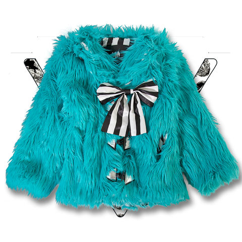 METAL TEAL MONSTER COAT