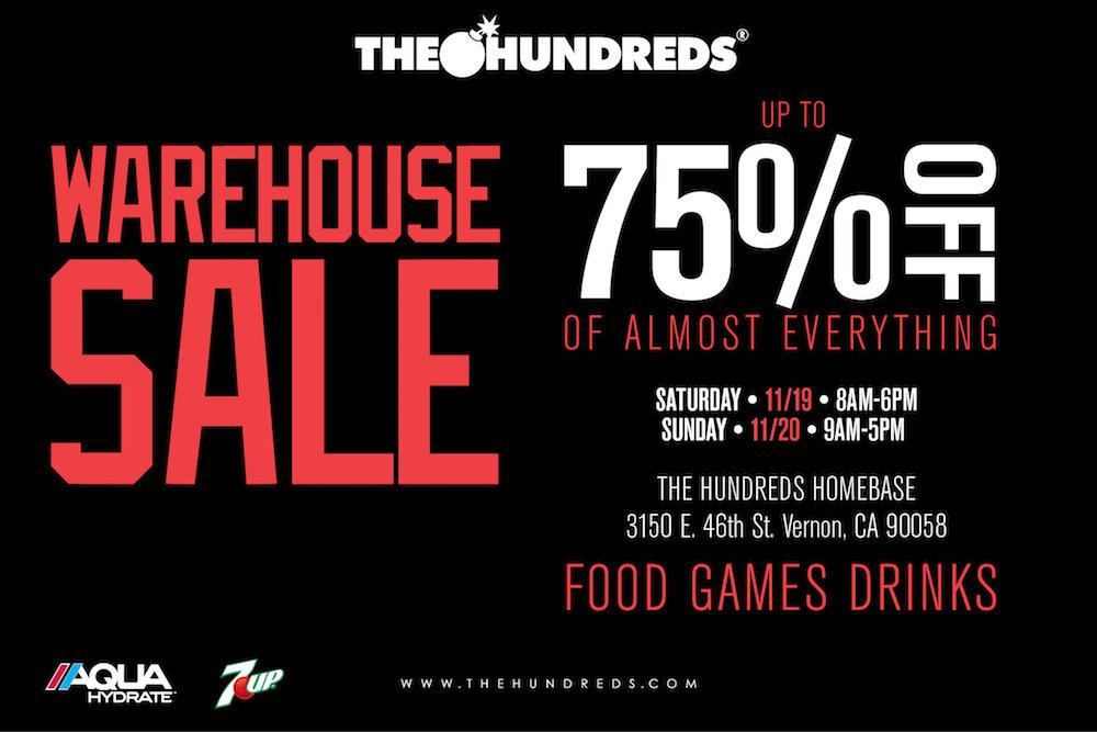 The Hundreds Warehouse Sale 2016