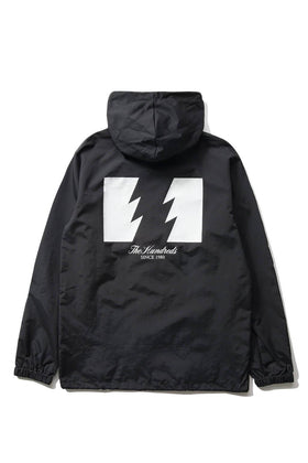 The Hundreds Forever Slant Hooded Coach's Jacket Black Back