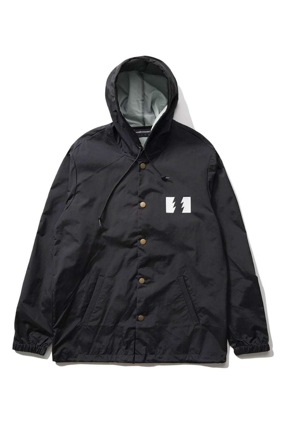 The Hundreds Forever Slant Hooded Coach's Jacket Black Front