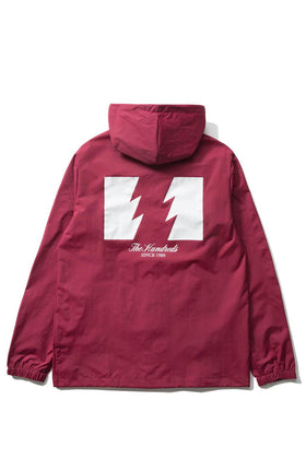 The Hundreds Forever Slant Hooded Coach's Jacket Burgundy Back
