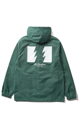 The Hundreds Forever Slant Hooded Coach's Jacket Forest Green Back