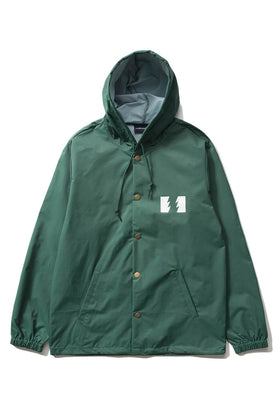 The Hundreds Forever Slant Hooded Coach's Jacket Forest Green Front