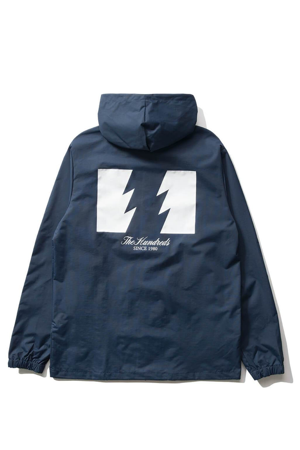 The Hundreds Forever Slant Hooded Coach's Jacket Navy Back