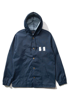 The Hundreds Forever Slant Hooded Coach's Jacket Navy Front