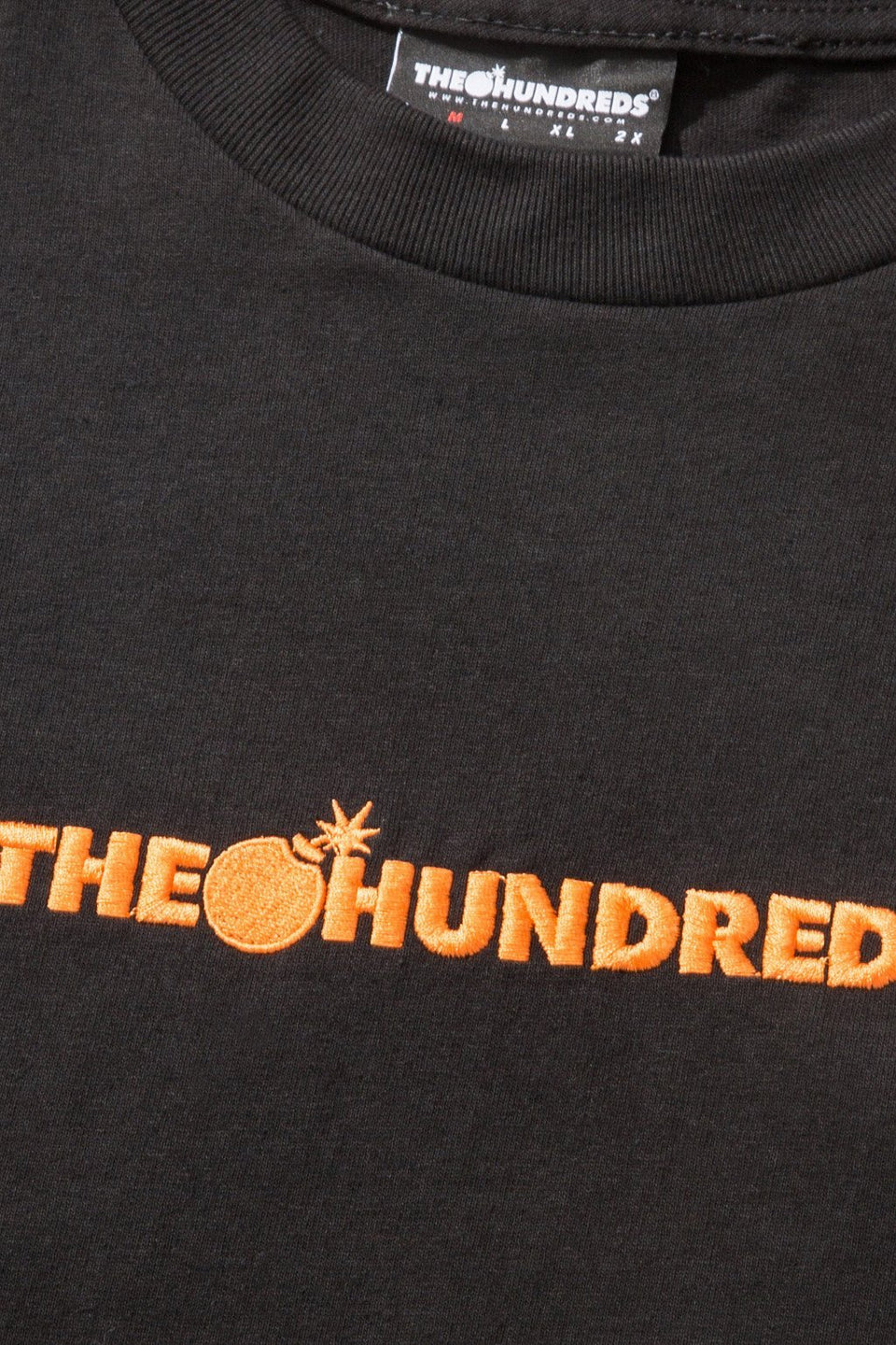 Bar Logo Embroidery T-shirt-TOPS-The Hundreds UK