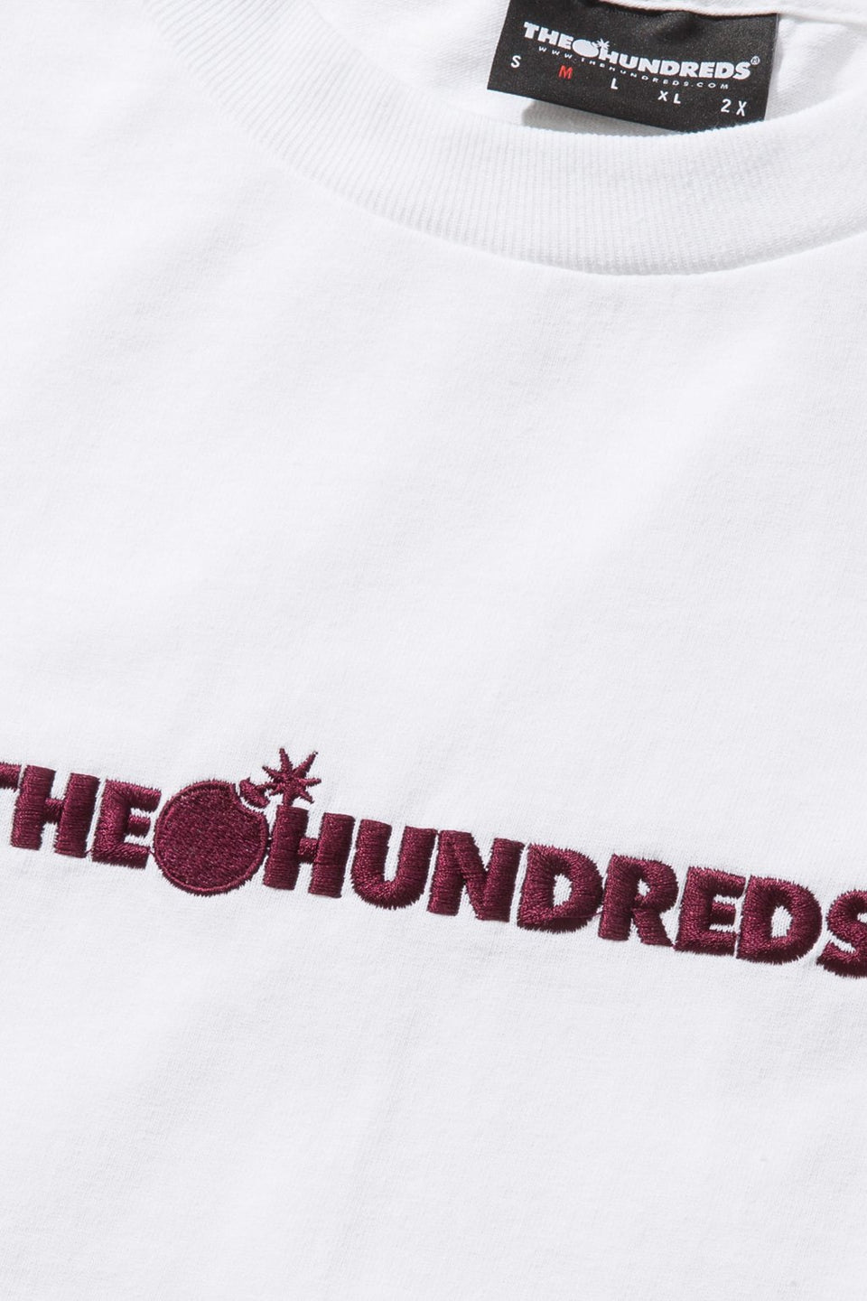 Bar Logo Embroidery L/S Shirt-TOPS-The Hundreds UK